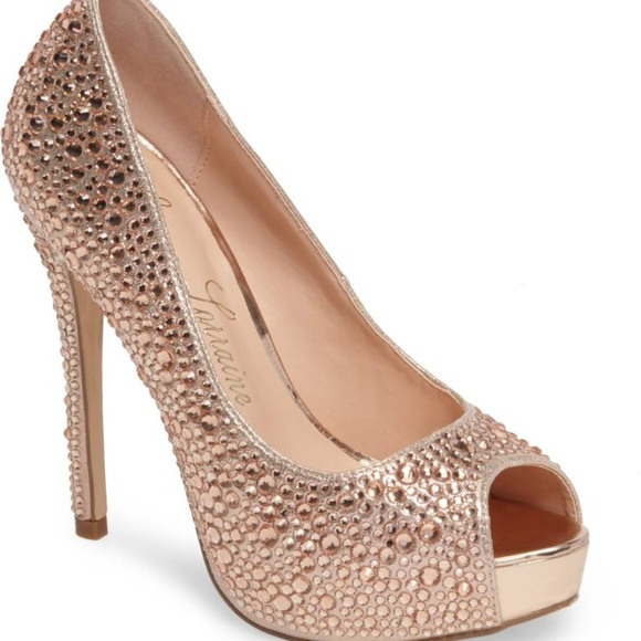 913e535515 lauren lorraine Shoes | Candy Crystal Peep Toe Pump 7 | Poshmark
